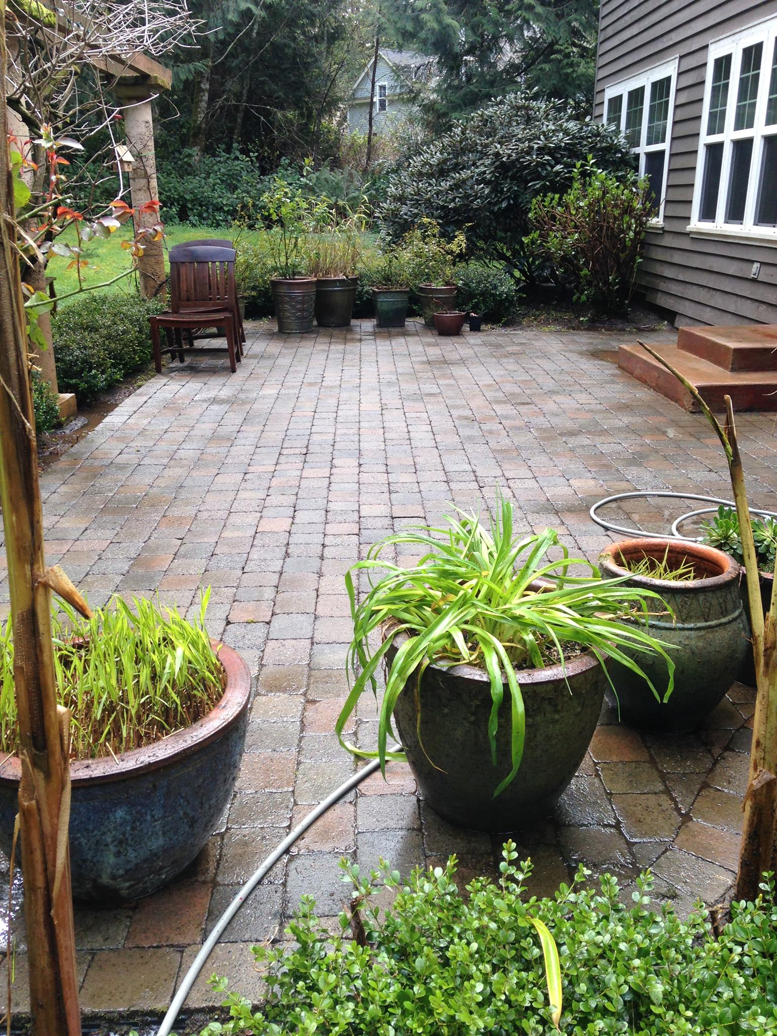 Pation cleaning, after service. We offer patio cleaning, home cleaning services in Seattle at affordable pricing. Try us now
